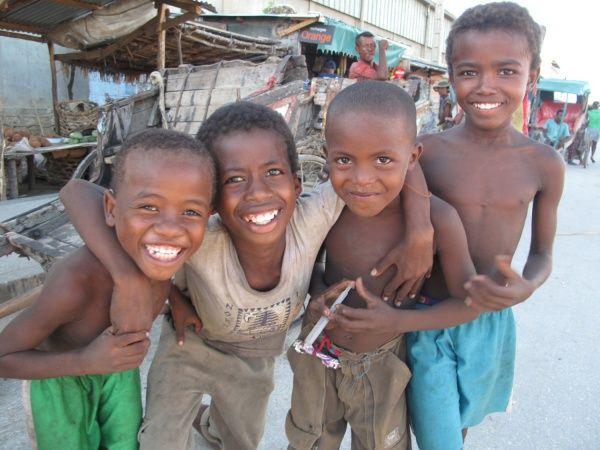 Kids in Tulear, southwest Madagascar http://madacamp.com/Tulear