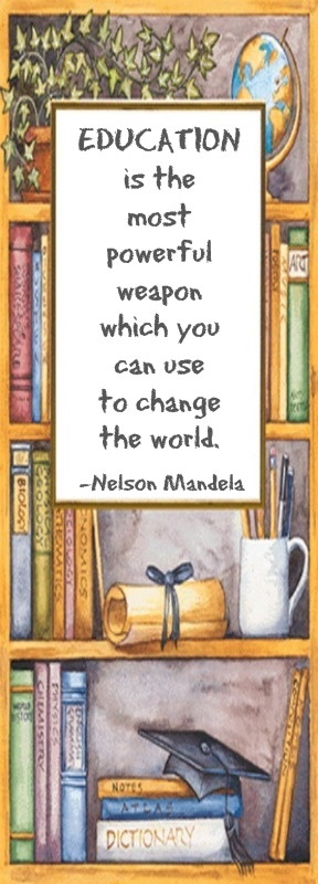 Education is the most powerful weapon which you can use to change the world  -Nelson Mandela ... Clip Art via Luisa Vázquez.