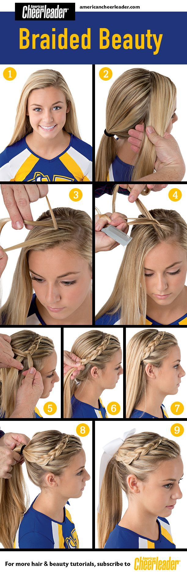 If you're looking for a sleek and simple way to pull your hair back, this is it. Braided front. Ponytail. Little girl hairstyle.