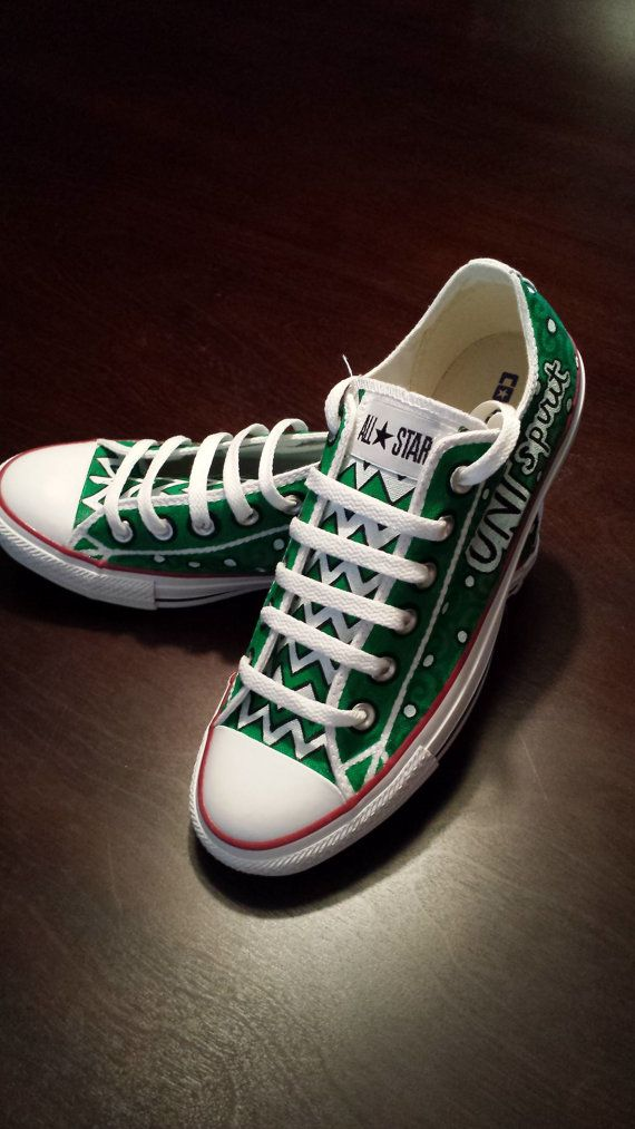 UNT Converse by AmbEli on Etsy