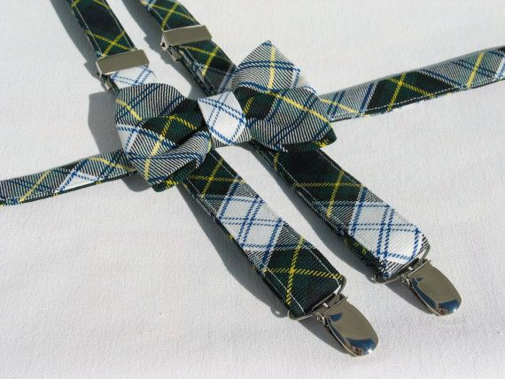 Dress Gordon Tartan Suspenders and Bow Tie Set by dolldressedup