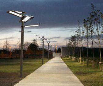 Sun Flower, Solar Cell Street Lamp Sans External Power Supplies   Pretty,  Modern, And Sustainable. Good Ideas
