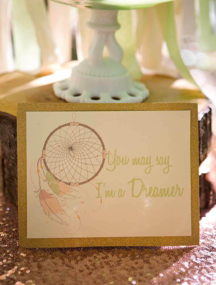 Pastel Dream Catcher themed birthday party via Kara's ...