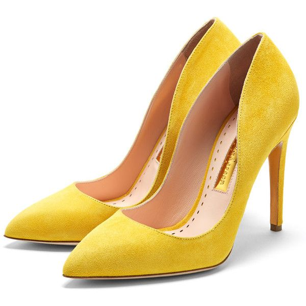 Rupert Sanderson High Heel Pumps ($675) ❤ liked on Polyvore featuring shoes, pumps, heels, zapatos, pointed toe pumps, heel pump, high heeled footwear, rupert sanderson and high heel pumps