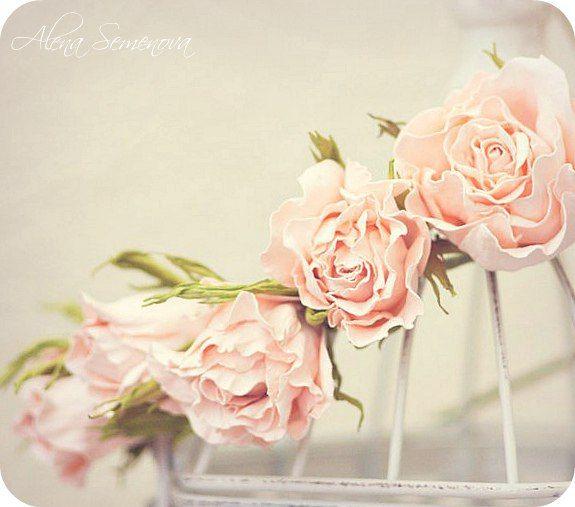 Мастер-класс розы шебби. – 10 фотографий