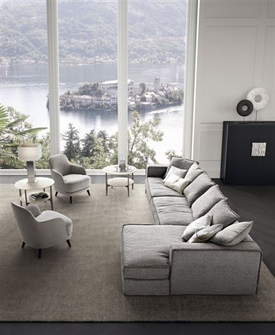Casamilano presents PILLOPIPE sofa with chaise longue, design Paola Navone for Casamilano home collection. Pillopipe is one of our icon items. Elegance, comfort and design.