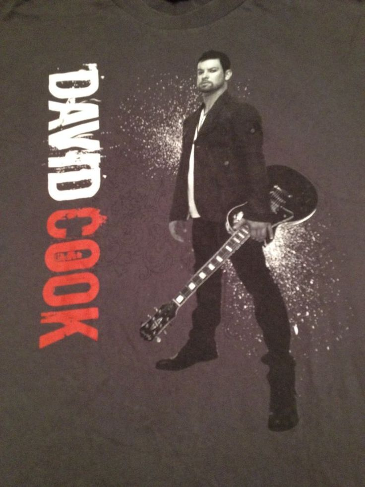 David Cook American Idol 2009 Declaration Tour T-Shirt 2-sided graphics - Size L #Alstyle #ShortSleeve