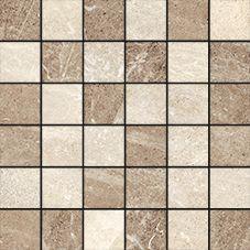"""Flint Cream Mosaic 2""""x2"""" on a 12""""x12"""" Sheet"""