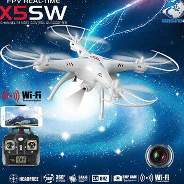 Professional Drone SYMA X5SW with 2.4G Controller with New FPV Camera and UpgradeTO BUY: Comment with your email address, and you'll receive a secure checkout link.Options: Black: 99,99 €White: 99,99 €Our latest arrival X5SW is amazingly perfect for drone helicopter fans! It has a new CAMERA which can take nice pictures