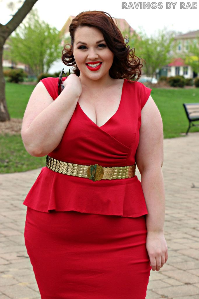 Outfit of the Day Vintage Glamour 2 Beautiful plus size shapewear and bras to help you rock outfits like this!  slimmingbodyshapers.com #slimmingbodyshapers