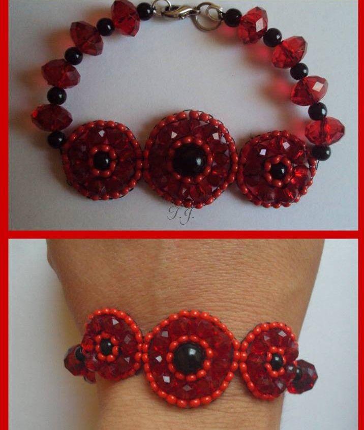 Circular brick stitch karkötő