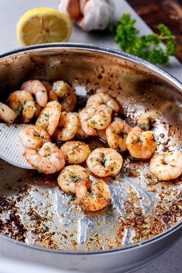 Lemon Paprika Garlic Prawns (Shrimp)- So good and a hit with everyone!