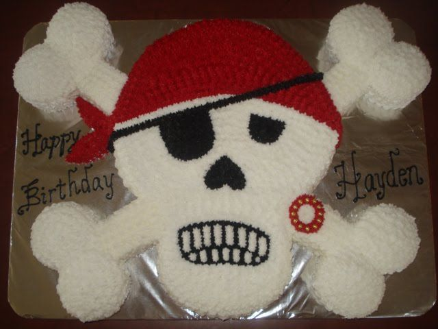 Pirate Skull And Cross Bones Cupcake Cake Ideas