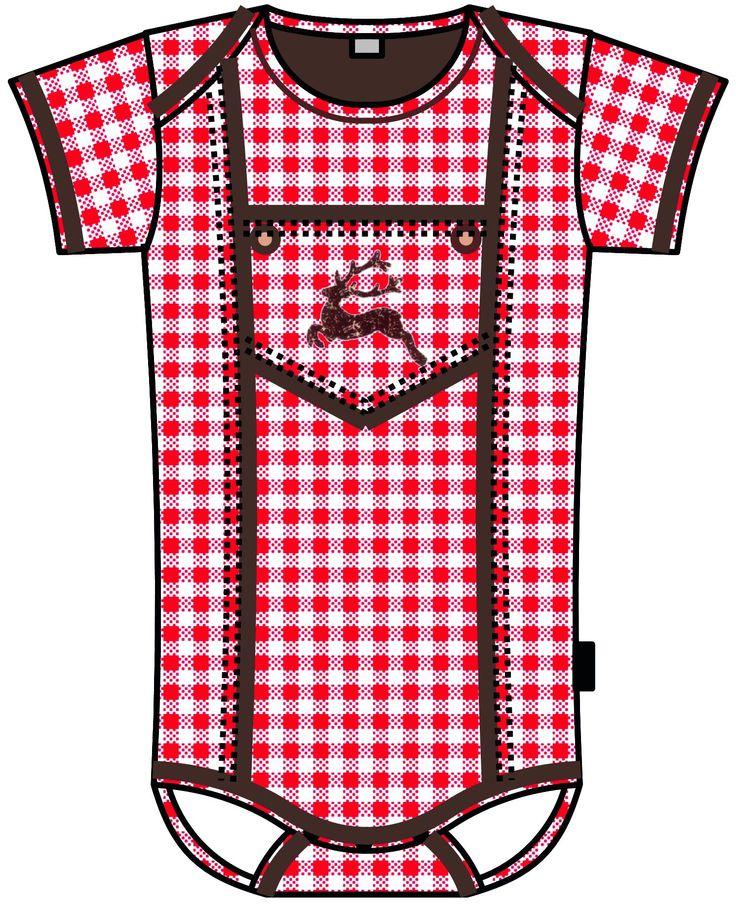 Baby Body Oktoberfest - auch in Karo blau erhältlich!