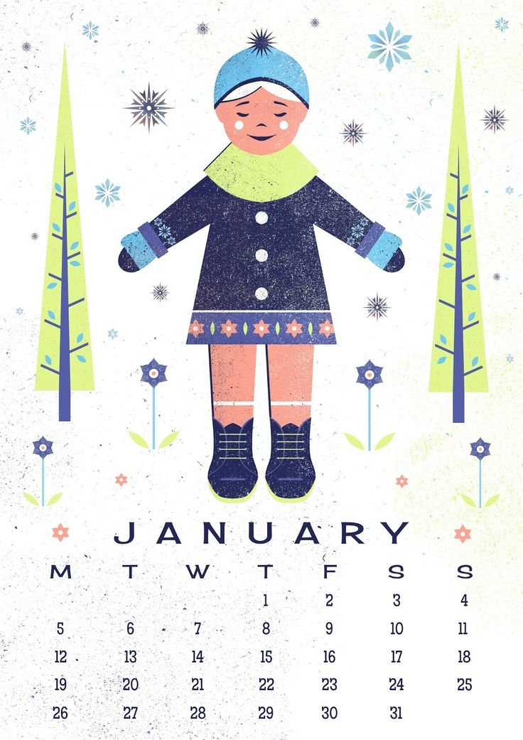 Calendar Illustration Ideas : Best january calendar ideas on pinterest