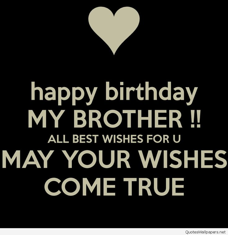Happy Birthday Wishes To My Brother Quotes: Happy Birthday Names