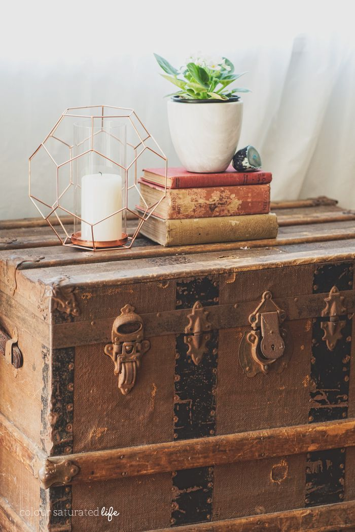 Colour Saturated Life | Vintage English Oak Sideboard