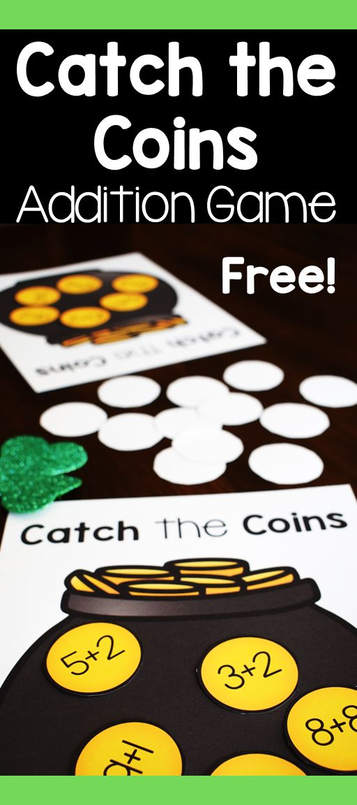 This free St. Patrick's day math center game is a fun way for students to practice addition fact fluency and comparing numbers. #freebie #mathgames