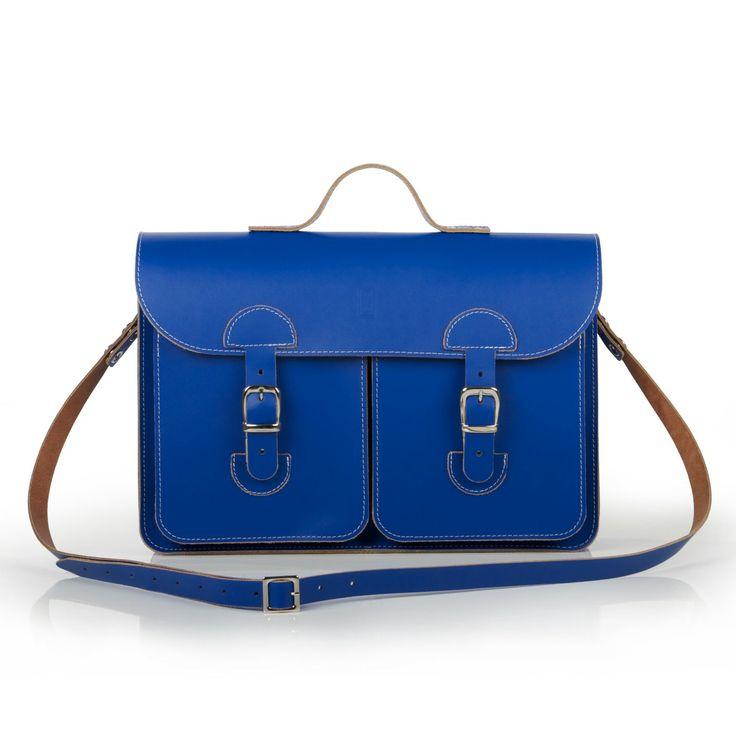 Oldschool Bags- Medium kobalt blauw. Verkrijgbaar bij www.bornidentity.nl