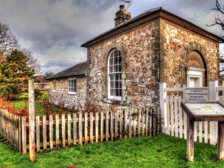Parham Park Gatekeeper's Cottage. South Downs West Sussex. http://www.southdownswalking.com/storrington-amberley-houghton-bridge/