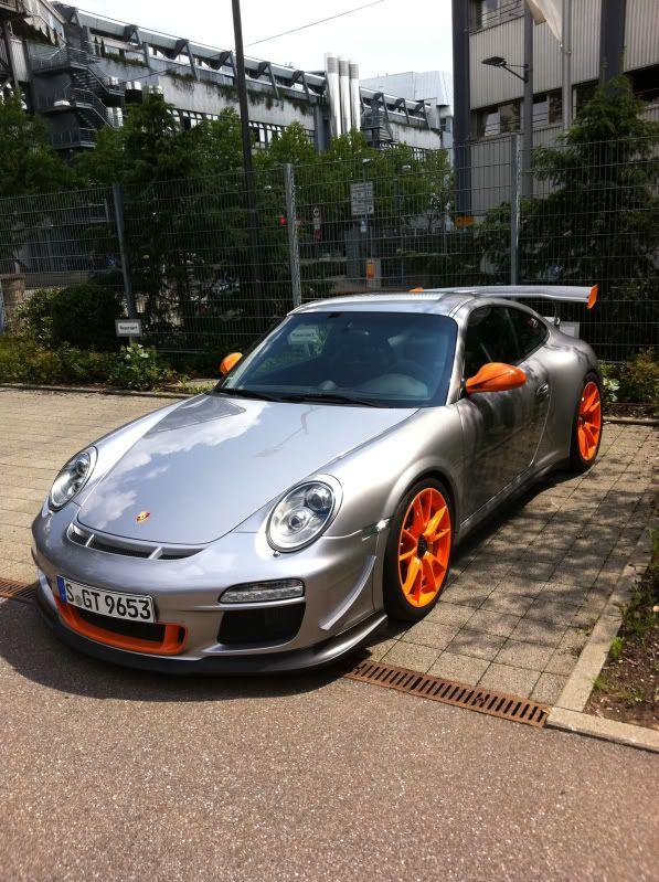 ♂ Automotive grey car with orange wheels Porsche 911 GT3 RS 4.0