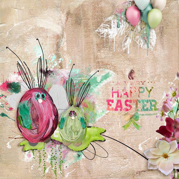 Spring Flings & Easter Things - NBK Design https://www.oscraps.com/shop/Spring-Flings-and-Easter-Things-nbkSFETPP5.html I used:  {Loopilaloozas} {Watercolor Bits} {Paperset: Impasto Pattern}  {Paints} {Artsy Bits & Pieces No.1}  Word Art Chalk
