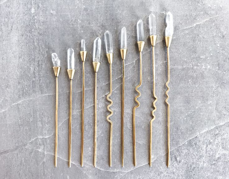 Quartz Hair Stick — Raw Crystal Hairpin   boho bride hair pin   bohemian wedding   witchy crystal gift   minimal hairstick   hair chopsticks by WildPromises on Etsy https://www.etsy.com/au/listing/523000871/quartz-hair-stick-raw-crystal-hairpin-o