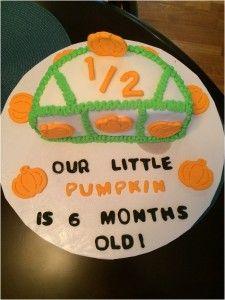 half birthday baby cake, #fall #baby #halfbirthday 1/2 birthday baby bake, our little pumpkin baby cake