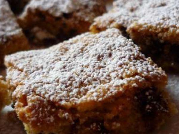 Ricetta Dessert : Quadrotti noci e cioccolato da Tortino al Cioccolato