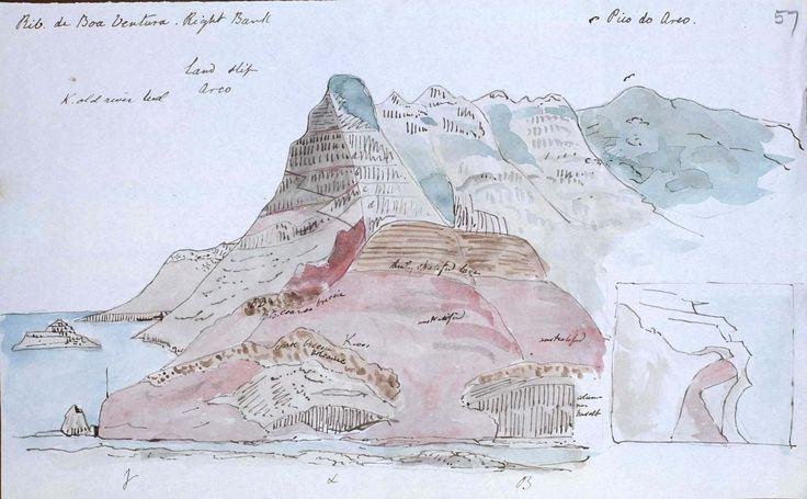 Sir Charles Lyell sketch of a land slip.