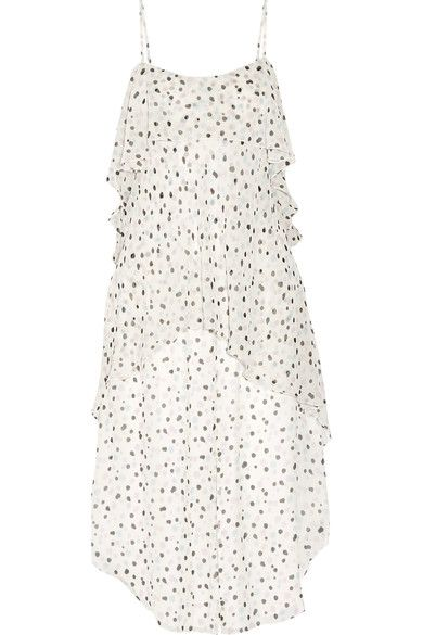 Maiyet - Fluid Wave Printed Silk-crepon Midi Dress - White - US12