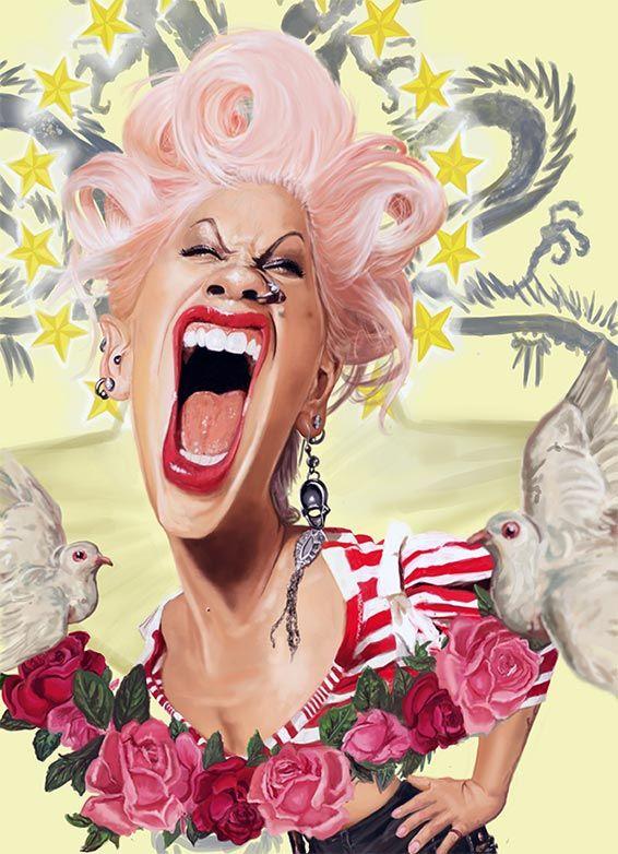 Pink caricature par Rich Conley