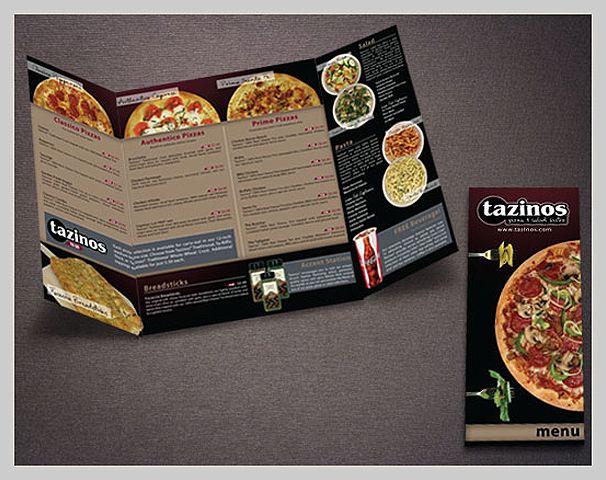 Elegant pizza menu design crust pinterest
