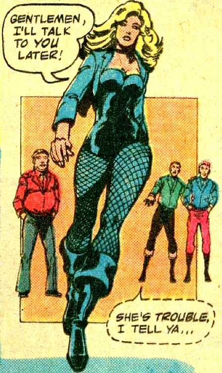 Black Canary...she's trouble! World's Finest #246 (1977) by Gerry Conway & Michael Netzer, inked by Terry Austin