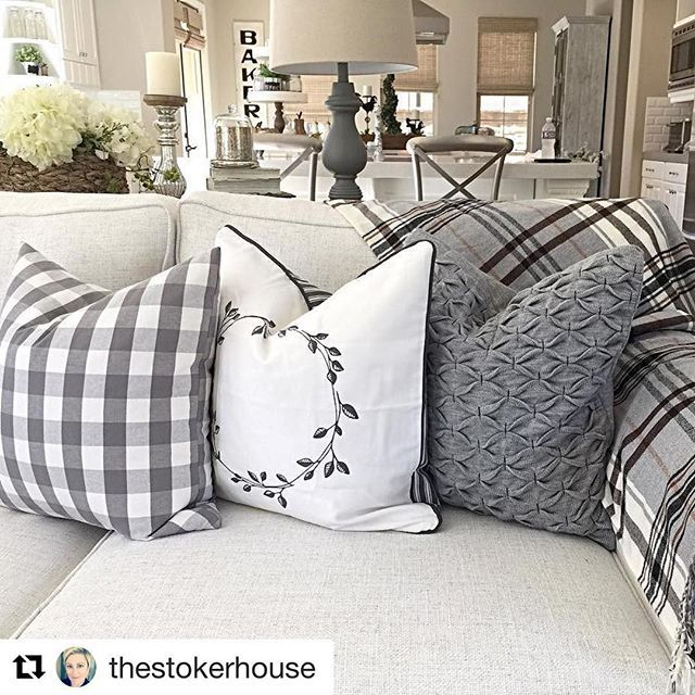 We love how @thestokerhouse used #IKEA SMÅNATE and VINTER cushion covers with a HERMINE throw to give her #livingroom a cozy winter look! #IKEAUSA