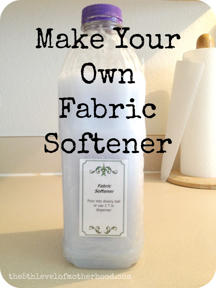 Homemade Fabric Softener Diy Cleaning Products