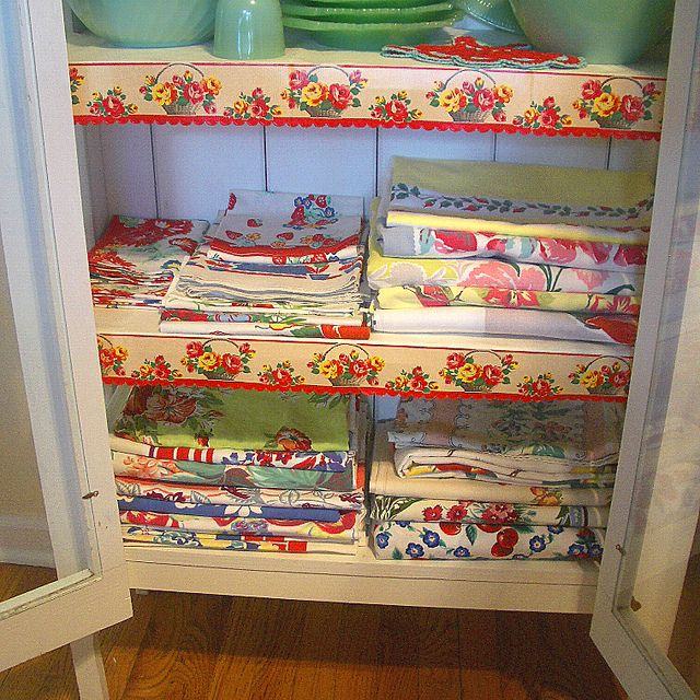 Vintage Tablecloths  by The T-Cozy, via Flickr