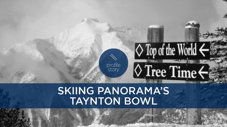 Steve Young dips into the steeps of Taynton Bowl at @panoramaresort, BC. Formerly used as exclusive terrain for a local heliski operation, the bowl is now lift-accessed and open to all expert snowboarders and skiers.