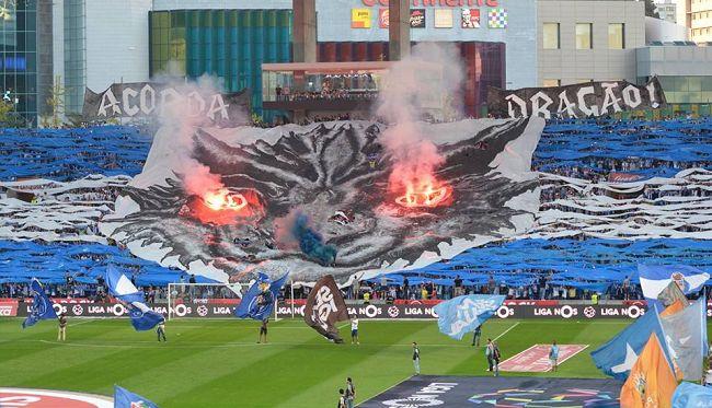 Porto fan choreo. O Clasicco. Estadio do Dragao.