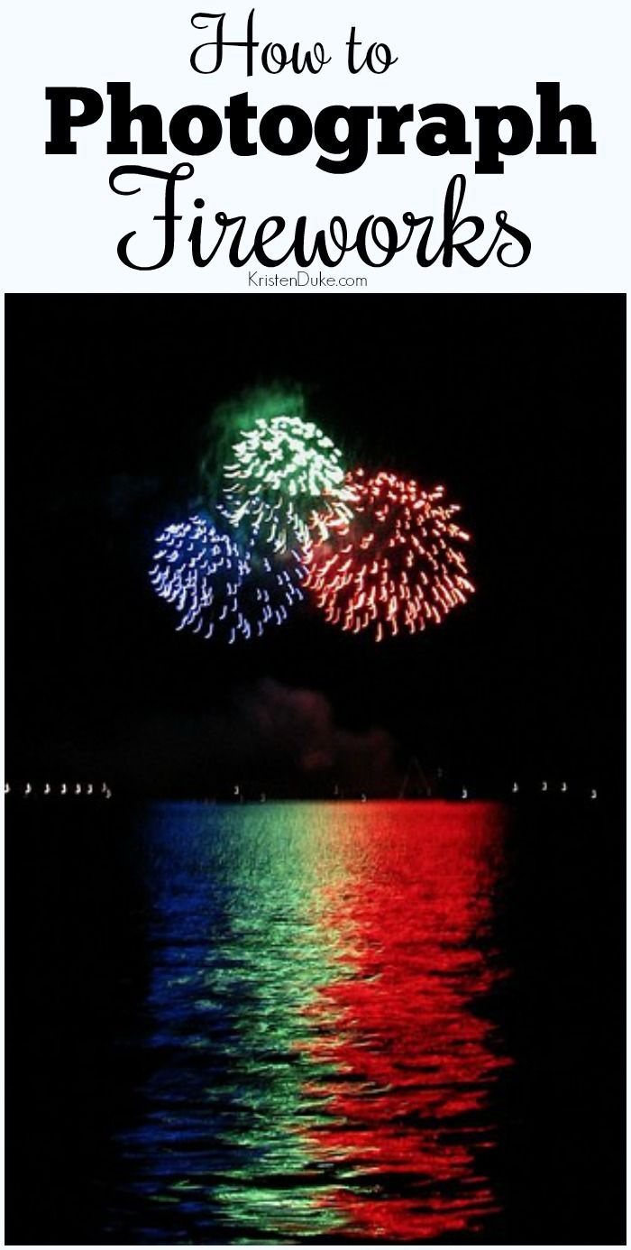 Photo tip: How to Photograph Fireworks for July 4th or New Years.