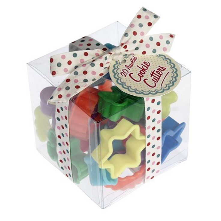 20 different shaped cutters made from brightly coloured plastic. £4.99