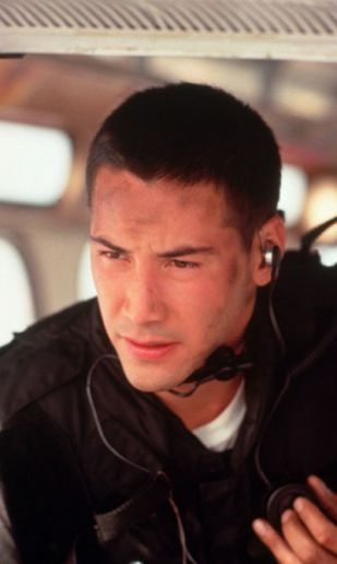 Keanu Reeves in Speed❤ My fiancé looks sooo much like him in this pic