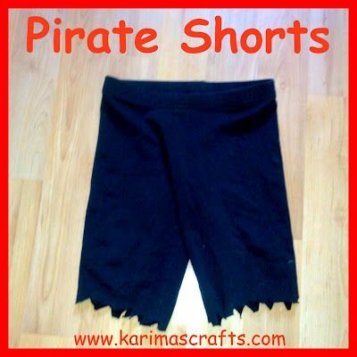 Karima's Crafts: Pirate Costume Tutorial (sword, shorts, and eyepatch, girl …