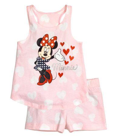 Tricot shortama | Lichtroze/Minnie Mouse | Kinderen | H&M NL