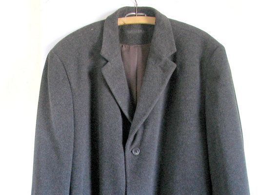 90s rare mens  breasted cashmere coat/ hand by artwardrobe on Etsy, $150.00