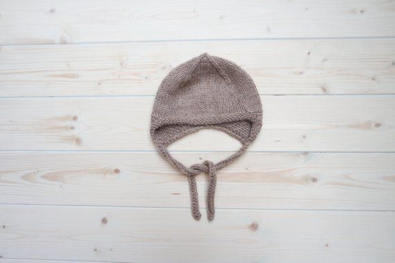 56623a62b Baby Winter Hat, Earflap Baby Alpaca Winter Hat, 0-3 month, Baby ...