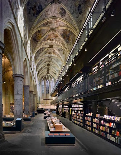 soaringLibraries, Book Stores, Selexyz Dominicanen, Old Church, Bookstores, New Age, The Netherlands, Architecture, Places