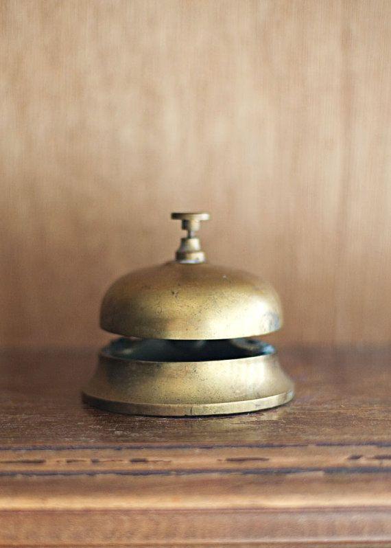 Brass Hotel Bell by ForestDaydream on Etsy