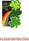 Applique - Rainbow Clovers House Flag