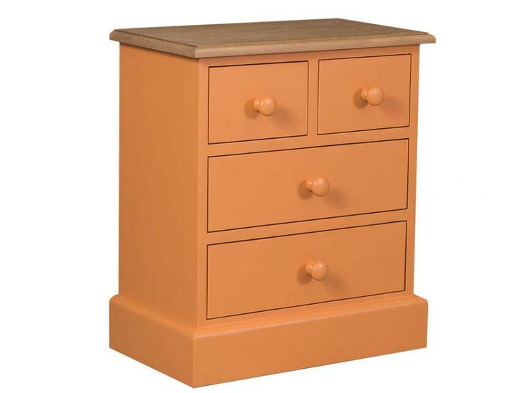 Pomarańczowa komoda z drewna - kolekcja Charlotte